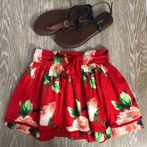Gilly Hicks Floral Print Skirt